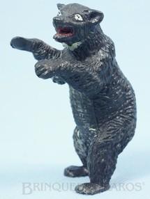 1. Brinquedos antigos - Casablanca e Gulliver - Urso negro de pé Série Zoológico Década de 1960