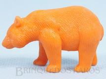 1. Brinquedos antigos - Casablanca e Gulliver - Urso Panda de plástico laranja Série Zoológico Década de 1970