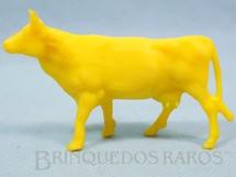 1. Brinquedos antigos - Casablanca e Gulliver - Vaca de plástico amarelo Fazenda Chaparral Década de 1970