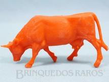 1. Brinquedos antigos - Casablanca e Gulliver - Vaca de plástico laranja Fazenda Chaparral Década de 1970