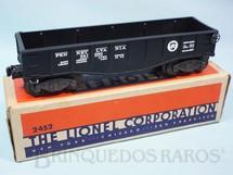 1. Brinquedos antigos - Lionel - Vagão 2452 Gondola Pennsylvania black Ano 1945 e 1946