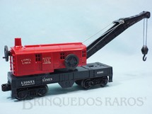1. Brinquedos antigos - Lionel - Vagão 6560 Bucyrus Erie Crane Arch-Bar on front and Timken on rear Trucks Ano 1959 a 1969