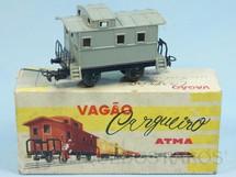 Brinquedos Antigos - Atma - Vagão Breque de dois eixos Corrente Alternada Atma Mirim Década de 1950