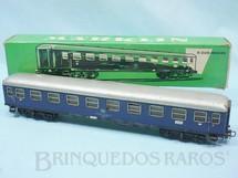 1. Brinquedos antigos - Marklin - Vagão Carro de Passageiros DB azul número 4027 Década de 1960