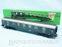 1. Brinquedos antigos - Marklin - Vagão Carro de Passageiros Bagagens verde número 4026 Década de 1960