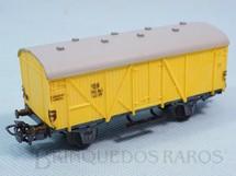 1. Brinquedos antigos - Marklin - Vagão furgão amarelo Década de 1960