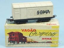 1. Brinquedos antigos - Atma - Vagão Furgão Soma de dois trucks Corrente Alternada Atma Mirim Década de 1950