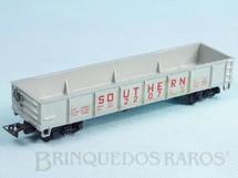 1. Brinquedos antigos - Atma - Conjunto Santa Fé Vagão Gôndola Southern Pacific Década de 1980