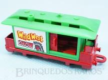 1. Brinquedos antigos - Corgi Toys-Kiko - Vagão Goods Wagon Série Wild West Brazilian Corgi Jr Kiko Década de 1980