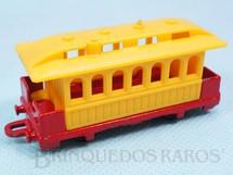 1. Brinquedos antigos - Corgi Toys-Kiko - Vagão Passenger Coach Série Wild West Brazilian Corgi Jr Kiko Década de 1980