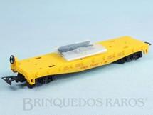 1. Brinquedos antigos - Atma - Conjunto Santa Fé Vagão prancha Union Pacific completo com estacas Década de 1980
