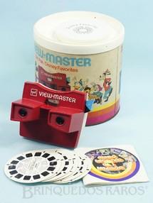 Brinquedos Antigos - GAF - Visor View Master com 7 discos da Disneylândia Gift Pak Disney Favorites Walt Disney Década de 1970