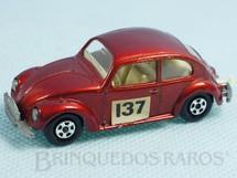 Brinquedos Antigos - Matchbox - Volkswagen 1500 Sedan Superfast Transitional Weels vermelho metálico Falta o adesivo no para choque