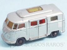 1. Brinquedos antigos - Matchbox - Volkswagen Camper Black Plastic Regular Weels