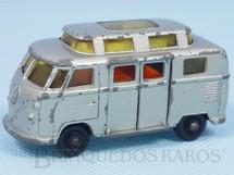 Brinquedos Antigos - Matchbox - Volkswagen Camper Black Plastic Regular Weels