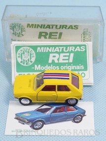 Brinquedos Antigos - Schuco-Rei - Volkswagen Gol L Brasilianische Schuco Rei completo com Catálogo e Cromo