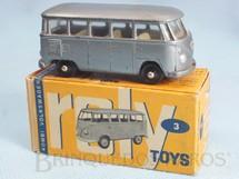 1. Brinquedos antigos - Roly Toys - Volkswagen Kombi com 7,00 cm de comprimento cinza metálico Década de 1960