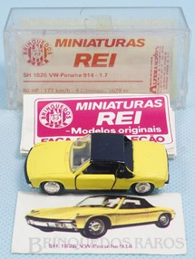 Brinquedos Antigos - Schuco-Rei - Volkswagen Porsche Brasilianische Schuco Rei amarelo completo com Catálogo e Cromo
