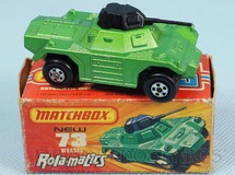 1. Brinquedos antigos - Matchbox - Weasel Rola-Matics verde metálico
