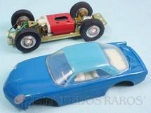 1. Brinquedos antigos - Estrela - Willys Interlagos Berlineta azul Chassi de latão Versão Kit para montar Ano 1968