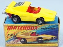 Brinquedos Antigos - Matchbox - Woosh-N-Push Superfast amarelo Number 2 Label