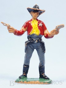 1. Brinquedos antigos - Casablanca e Gulliver - Xerife de pé com dois revolveres