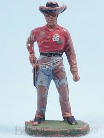 Brinquedos Antigos - Casablanca e Gulliver - Xerife de pé sacando o revolver
