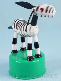 1. Brinquedos antigos - Rosita - Zebrinha de mola com 12,00 cm de altura Década de 1960