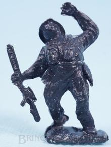 Brinquedo antigo Cópia de segunda linha do Soldado ferido injetada na cor preta