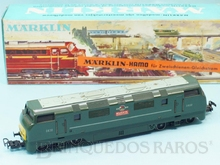 Brinquedo antigo Marklin Hamo Locomotiva Diesel Hidráulica Classe Warship Rodagem B`B` Ferrovia Inglesa Número 8373 Classificação Koll