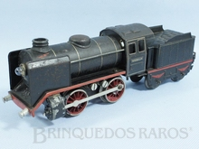 Brinquedo antigo Marklin Locomotiva a Vapor rodagem B Ferrovia Alemã número R12880 alimentação 20 Volts com Transformador ano 1931 até 1942 Comprimento 27,00 cm