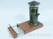 Brinquedo antigo Marklin Sino de Linha com acionamento manual e mecânico pelo peso da Locomotiva Motor a corda Número 2259 Ano 1932 a 1936 Altura 12,00 cm