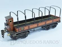 Brinquedo antigo Marklin Vagão Gôndola com Cabine de freio Ano 1936 a 1942 Número 18520 Comprimento 26,00 cm