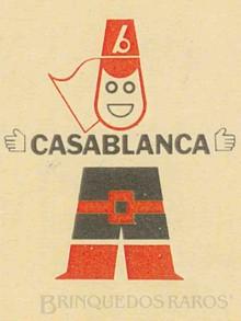 Brinquedos antigos -  - Logotipo Casablanca ano 1966