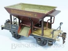Brinquedo antigo Marklin Vagão Transporte de cascalho Ano 1933 a 1942 Número 1767 Operacional Comprimento 18,00 cm