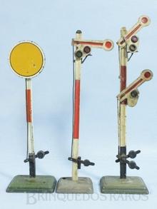 Brinquedo antigo Marklin Sinais de Linha diversos Ano 1935 a 1954 Altura 20,00 cm