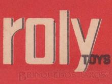 Brinquedos antigos -  - Roly Toys primeira fábrica brasileira de miniaturas de automóveis Logotipo impresso nas caixas dos famosos carrinhos Ano 1965
