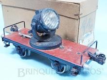 Brinquedo antigo Marklin Vagão Plataforma com Holofóte Ano 1933 a 1941 Número 1959 Operacional Caixa Original Comprimento 18,00 cm