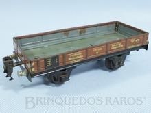 Brinquedo antigo Marklin Vagão Gôndola Ano 1933 a 1954 Número 1772/0 Comprimento 18,00 cm