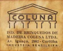 Brinquedos antigos -  - A Fábrica de Brinquedos Coluna começou produzindo carros e caminhões de Madeira com o Logotipo-Etiqueta de papel colado Década de 1950