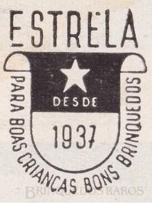 Brinquedos antigos -  - Estrela Logotipo Ano 1949