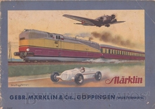 Brinquedo antigo Marklin Catálogo anos 1936/1937 Edição em alemão com 76 páginas coloridas
