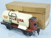 Brinquedo antigo Marklin Vagão Tanque Deutsches Benzin Leuna com Cabine de freio Ano 1933 a 1942 Número 1774 Caixa Original Comprimento 20,00 cm