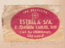 Brinquedos antigos -  - Estrela Etiqueta em fita adesiva colada em brinquedos em geral e lacrando as caixas Década de 1960