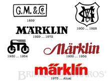 Brinquedo antigo Marklin Logotipos desde a fundação em 1859 até hoje