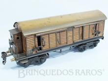 Brinquedo antigo Marklin Vagão Furgão com Cabine de freio Ano 1936 a 1942 Número 18560 Comprimento 26,00 cm
