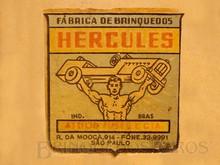 Brinquedos antigos -  - Fábrica de Brinquedos Hercules Logotipo Etiqueta aplicada por Decalcomania nos Brinquedos de Pedal da empresa Década de 1960