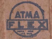 Brinquedos antigos -  - Atma Paulista Logotipo-Etiqueta aplicada por fita adesiva para lacrar as caixas de seus brinquedos Década de 1960