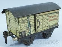 Brinquedo antigo Marklin Vagão Furgão de Água Mineral Göppinger Srudel Mineral Wasser Ano 1932 a 1942 Número 1687/0 Comprimento 14,00 cm