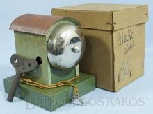 Brinquedo antigo Marklin Sino de Linha com acionamento eletrônico Motor a corda Número 13896 Ano 1938 a 1942 Caixa Original Altura 11,00 cm
